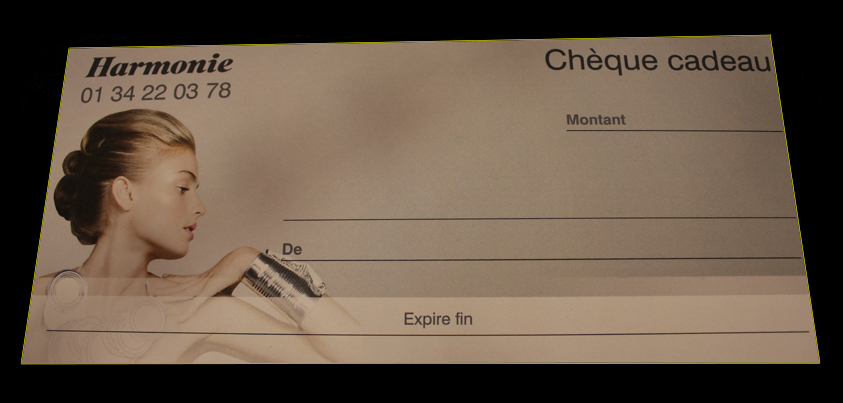 chèque cadeau Harmonie Coiffure